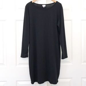 LaLaRoe Black Knit Long Sleeved Debbie Dress